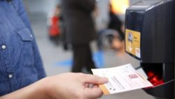 Photo: eTicket- and barcode scanner at the entry